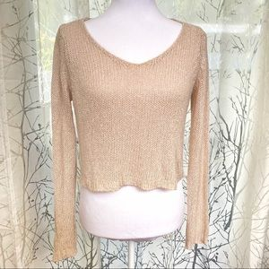 Brandy Melville blush crop knit sweater